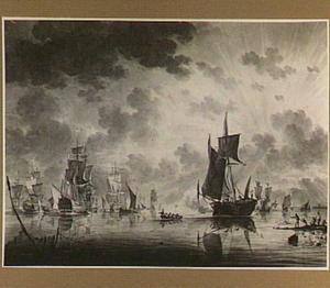 Een vloot op kalme zee