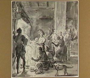 Manius Curtius Dentatus wijst de geschenken van de Samnieten af (Plutarchus 18:2)