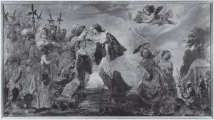 De legende van de O.L.V Kerk te Alsemberg:  De H. Elisabeth van Hongarije ontmoet hertogin Maria van Brabant