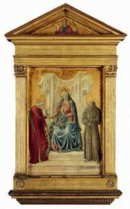 Tronende Madonna, het mystieke huwelijk van de H. Catharina, de zalige Gerhard von Villamagna, buste van de H. Lucia