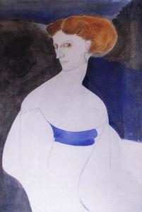 Portret van Claartje Rijnbende (1881-1971)
