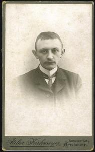 Portret van Hendrik Anton Hage