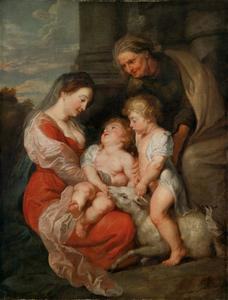 Maria en kind met Johannes de Doper en Elizabeth