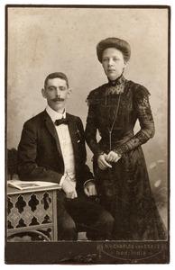 Portret van Jacques Broesse van Groenou (1876-1911) en Alida Antoinetta Cornelissen (1875-1953)