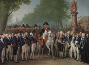 De overgave van de sleutels van de stad Amsterdam aan Napoleon, 9 oktober 1811