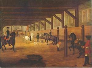 Interieur van de Hollandsche Manege in Amsterdam
