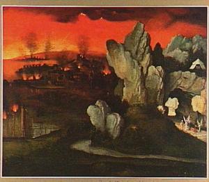 Landschap met de verwoesting van Sodom en Gomorra (Genesis 19:24-29)