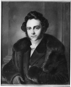 Portret van een onbekende man in een bontjas