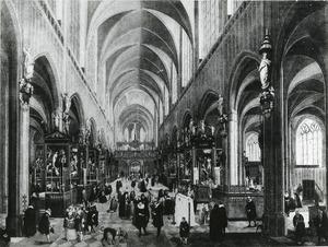 Binnengezicht van de Antwerpse kathedraal