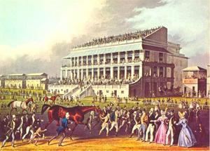 Bay Middleton, winnaar van de Derby 1836 voor de Grand Stand in Epsom