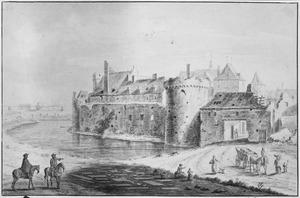 Achterzijde van het kasteel te Grave