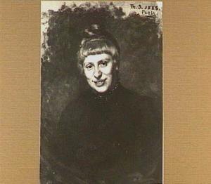 Portret van Walburgia Wilhelmina (Wally) Moes (1856-1918)