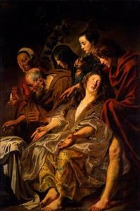 De discipelen aan het graf van Christus