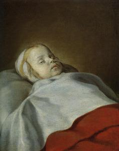 Doodsbedportret van een onbekend kind