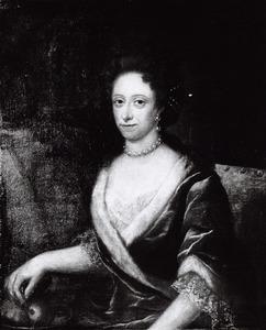 Portret van Maria Wilhelmina Charlotta von Wartensleben (1683-1742) en haar dienaar