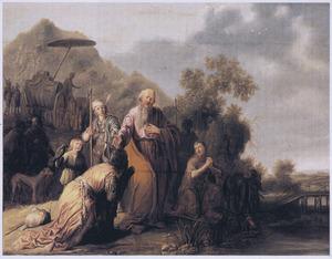 De doop van de kamerling (Handelingen 8:38-39)