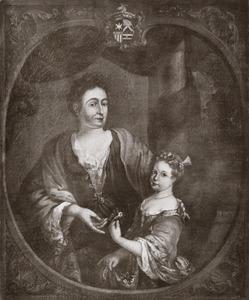 Dubbelportret van Johanna Magdalena Ingelby (1676-1759) en Anna Maria van Overschie (1711-1756)
