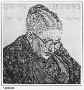 Portret van Grietie Smith-van Stolk