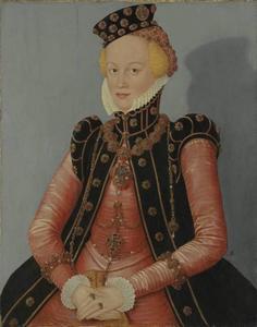 Portret van een vrouw, mogelijk Elisabeth von Ansbach, Markgräfin von Beyreuth (?-?)