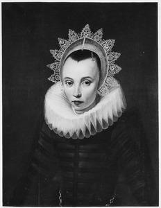 Portret van een vrouw, geïdentificeerd als Anna Heerman (?-1633)