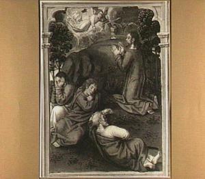 Christus in de hof van Gethsemane (detail van het middenpaneel)