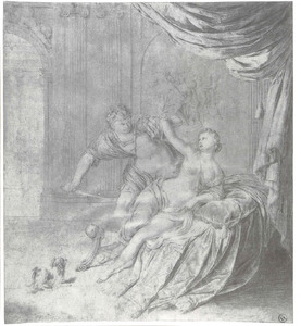Tarquinius bedreigt Lucretia