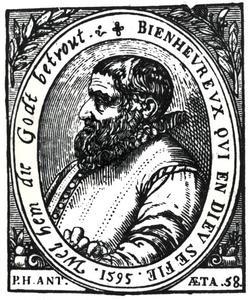 Portret van Peeter Heyns (1537-1598)