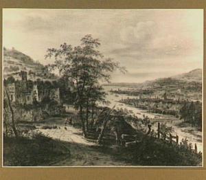 Panoramisch rivierlandschap