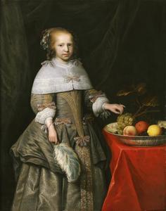 Portret van een onbekend achtjarig meisje