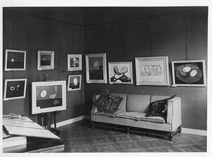Tentoonstelling van Piet Ouborg bij kunsthandel De Bois in Haarlem, 1932
