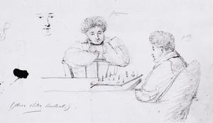 Portret van Rene Frederic baron Groeninx van Zoelen (1800-1859) en Willem Jan graaf van der Goltz (1798-1863)