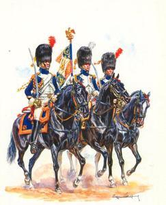 Vaandelwacht, Bereden Grenadiers, Keizerlijke Garde