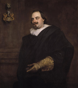 Portret van Peeter Stevens (....-1668), echtgenoot van Anna Wake