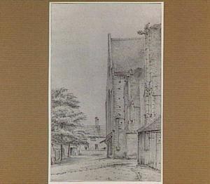 Het Kerkplein ten noorden van de Cunerakerk te Rhenen