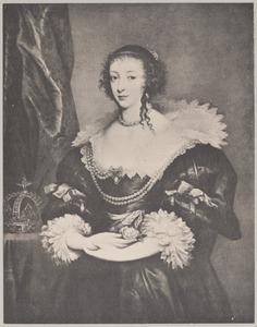 Portret van Henrietta Maria de Bourbon, koningin van Engeland  (1609-1669)