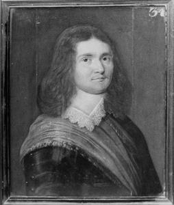 Portret van Engelbert van Schrieck, kapitein in het Noord-Hollands regiment