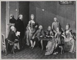 Portret van Bruno Martens (1695-1769), Eleonora Christina Bingelius (1697-1774) en hun kinderen