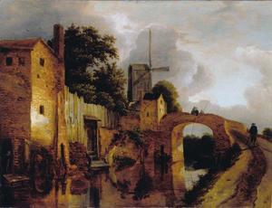 Kanaal met brug