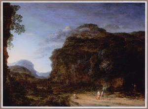 Berglandschap met Tobias en de engel