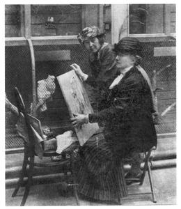 Lizzy Ansingh en Thérèse Schwartze in Artis