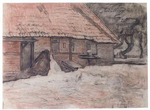 Side view of a farm building near Winterswijk