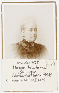Portret van Margaretha Johanna van der Pot (1841-1930)