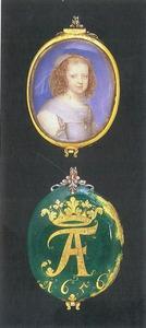 Portret van Frederike Amelie van Denemarken (1649-1704)