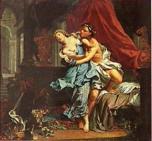 Tamar door Amnon verkracht (2 Samuel 13:11-14)