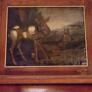 Landschap met twee herten