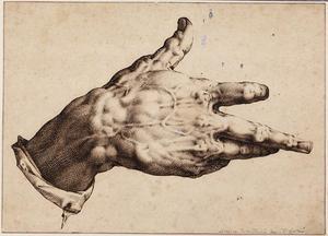 De rechterhand van de kunstenaar