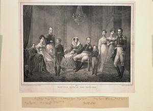Portret van koning Willem I (1772-1843) en zijn familie