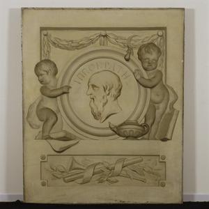 Allegorische voorstelling in betrekking tot Hippocrates