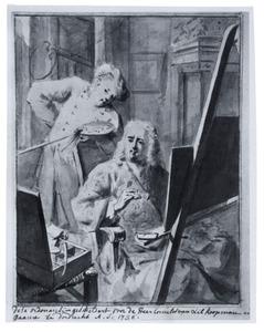 Zelfportret van Aert Schouman (1710-1792) met Cornelis van Lill (1866-1743)