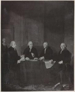 Vier regenten van het R.C. Maagdenhuis te Amsterdam